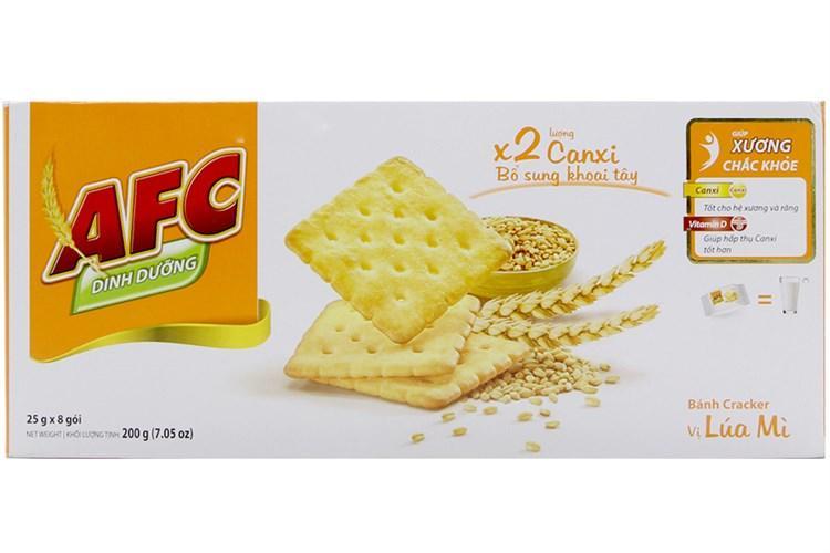 Bánh Cracker AFC Vị Lúa Mì 200g