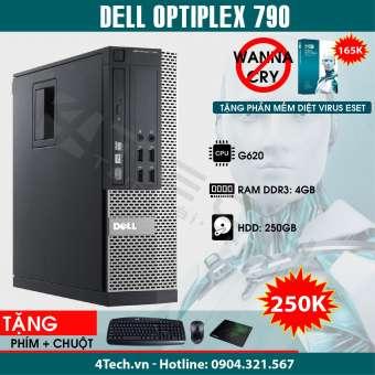 cây máy tính đồng bộ dell optiplex, máy tính để bàn giá rẻ, máy tính cây dell optiplex 790 intel pentium g620, ram 4gb, hdd 250gb.