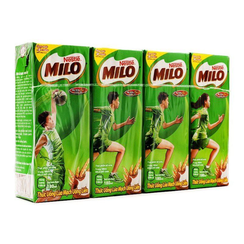 Sữa Milo 180ml 4 hộp/lố