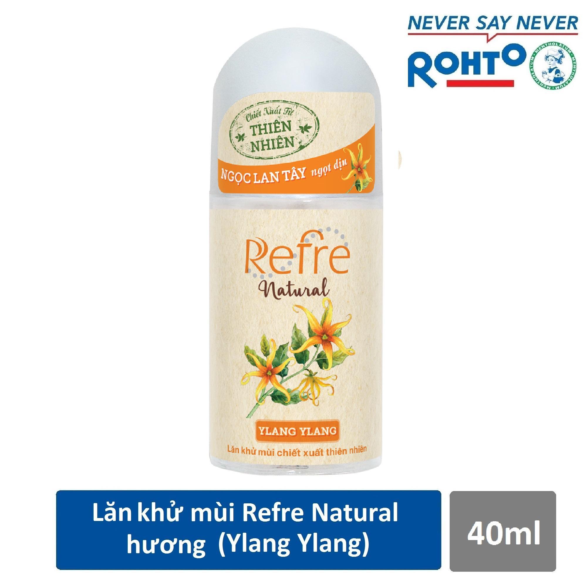 Lăn khử mùi Refre Natural Ylang Ylang Hương Ylang Ylang 40ml