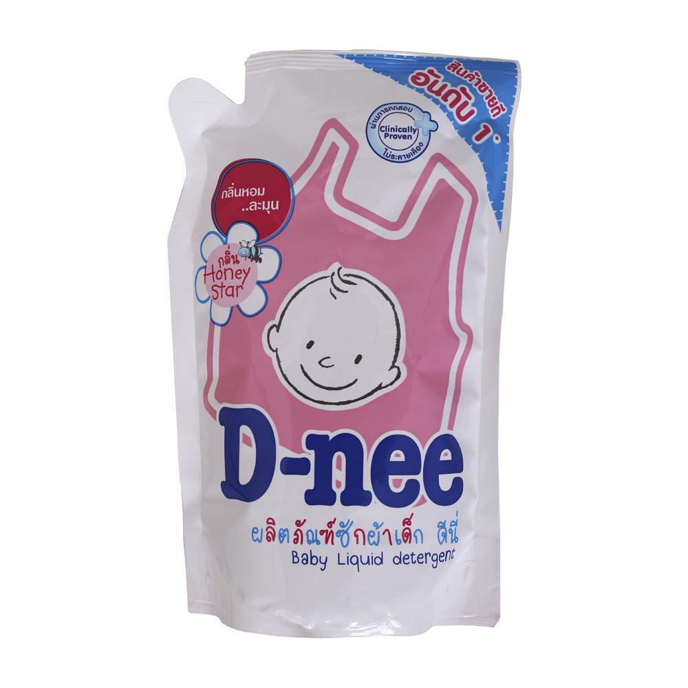 Nước giặt xả quần áo D-nee hồng 600ml