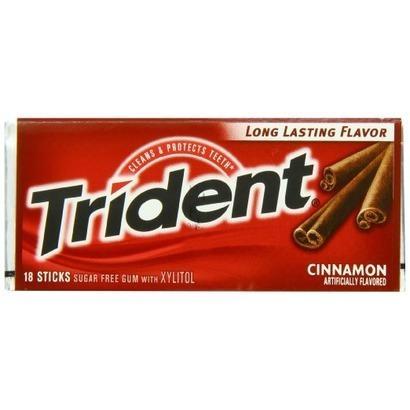 Kẹo cao su Trident Mỹ khử mùi hôi, bảo vệ răng, sạch răng,chống sâu răng ( 1gói/14 viên -  Hương quế - Mẫu mới - Xách tay Mỹ )