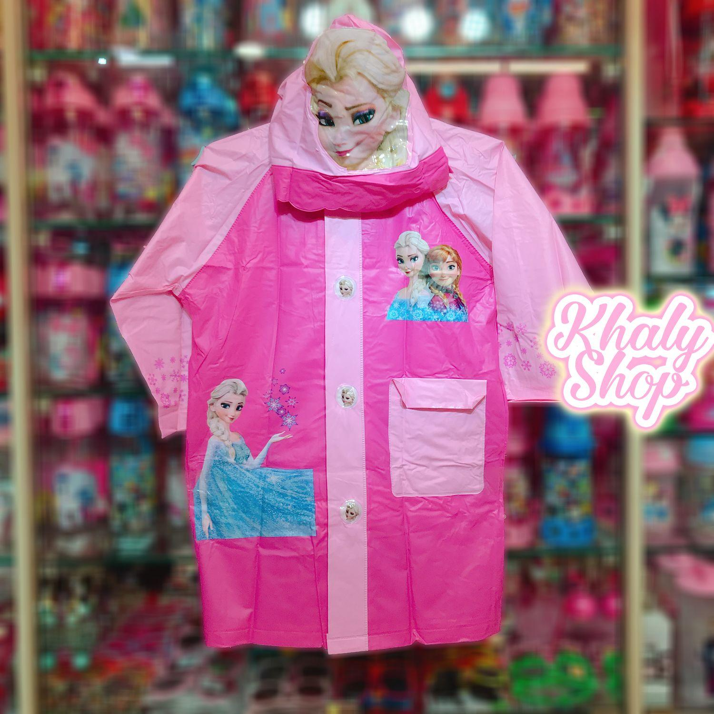 Áo mưa hình công chúa Elsa và Anna Frozen màu hồng dành cho trẻ em có nhiều size (S-M-L-XL-XXL) - 36FZH6026138