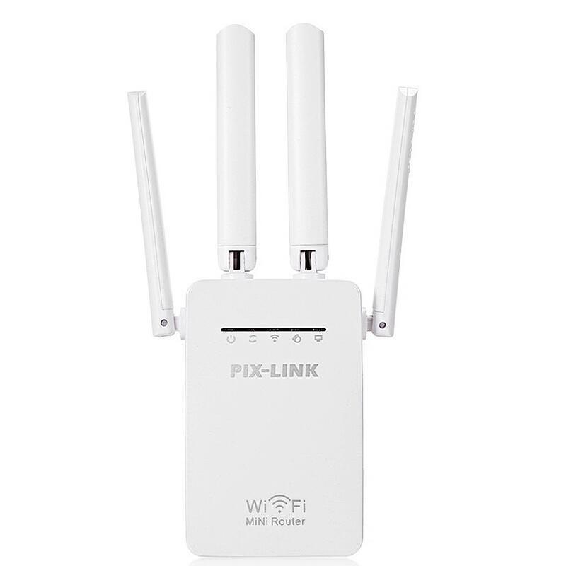 Kích sóng wifi 4 râu - cực mạnh (trắng)-Bộ câu trộm wifi hàng xóm-Bộ thu phát wifi mạnh gấp 4 lần wifi thường