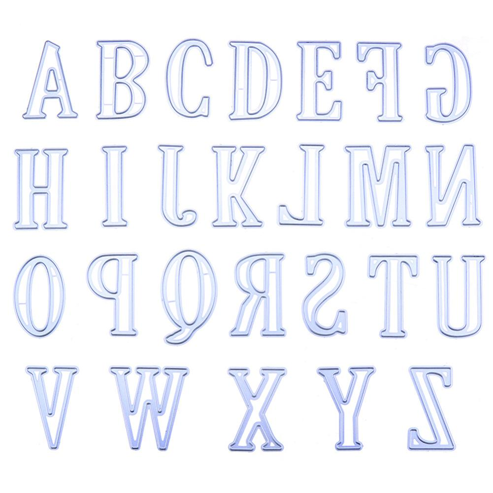 Aikang 5CM Large Big Alphabet Letters Metal Cutting Dies Stencils for DIY Scrapbooking Specification:A-Z Style:A total of 26 letters