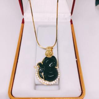 Mặt dây chuyền nữ mặt hồ ly ( Hồ ly đen) trang sức phong thủy, may mắn, tài lộc thumbnail