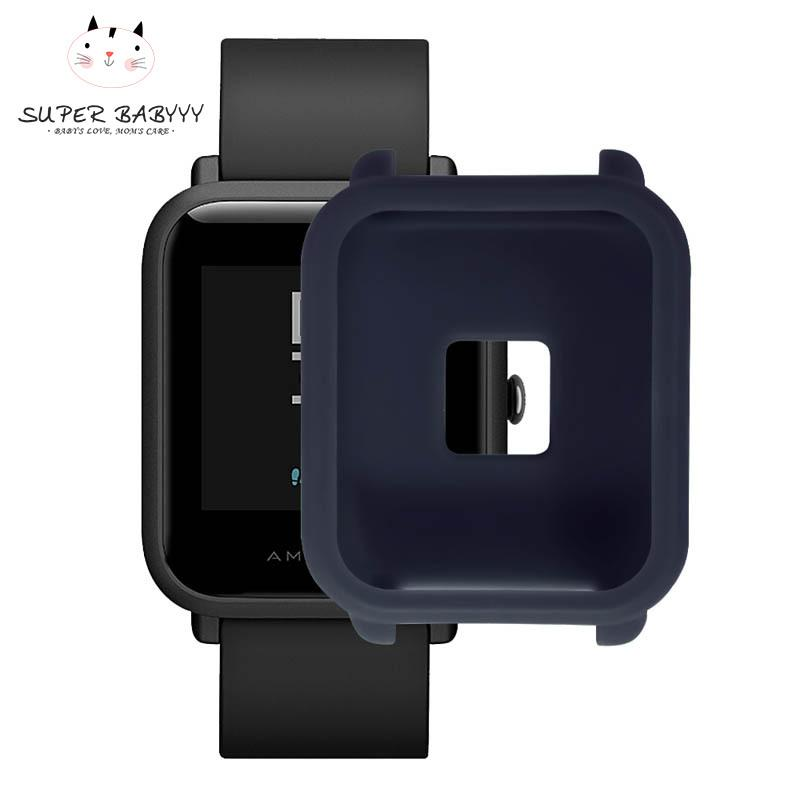 SBY Soft TPU Protection Silicone Full Case Cover Full Cover Cases for Huami Amazfit Bip Youth Watch