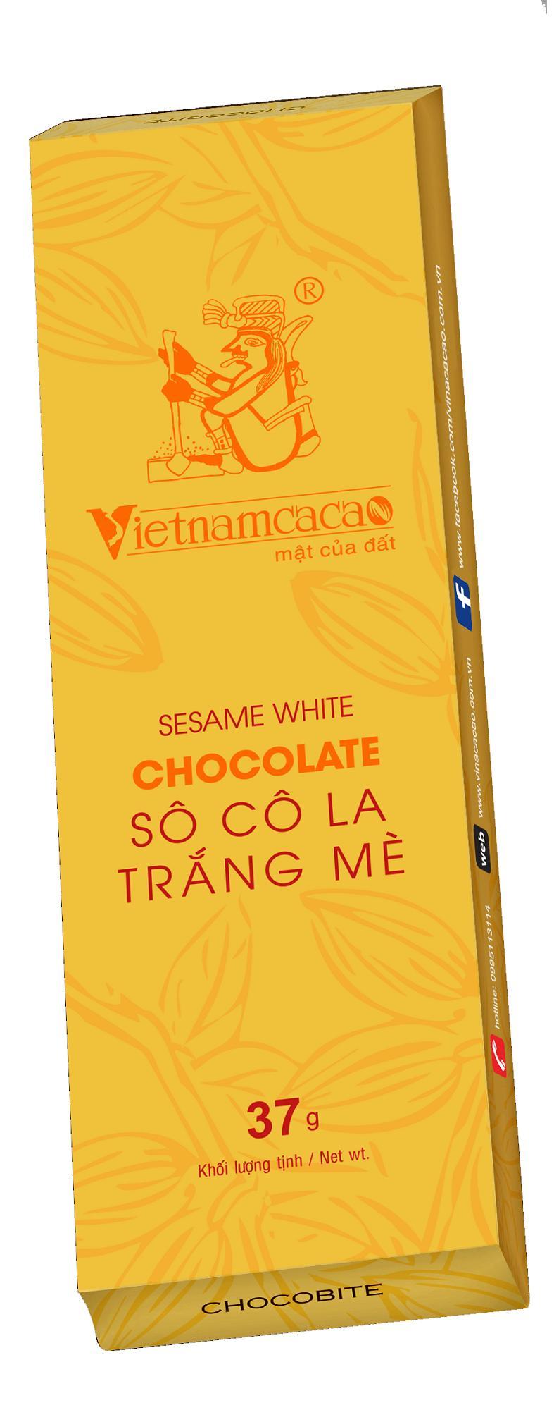 Socola trắng mè chocobite - Vinacacao 37g