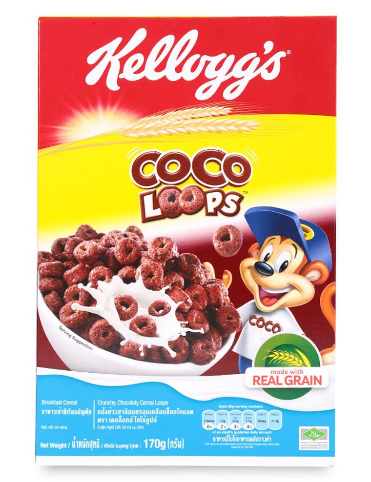 Ngũ Cốc Ăn Sáng Kellogg's Coco Loops Hộp 170G