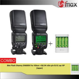 Đèn Flash Shanny SN600N For Nikon + Bộ 04 viên pin & 01 sạc GP (Japan) thumbnail