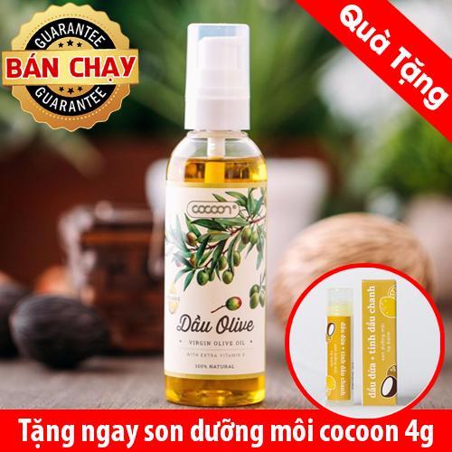 Dầu olive vitamin e cocoon nguyên chất 100ml Tặng 1 son dưỡng