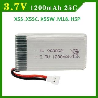 Pin Máy Bay Điều Khiển 3.7V 1200mAh 25C( X5SW .X5S.X5SC.M18..) thumbnail