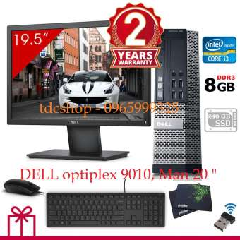 Bộ máy tính để bàn DELL Otiplex 9010 ( Chip core i3 3220, Ram 8gb, SSD 240gb ), Màn hình DELL 20 inch. Tặng combo bàn phím chuột DELL, USB WIFI.(Bộ máy tính DELL, máy tính để bàn, máy tính văn phòng, máy tính để bàn cấu hình cao )