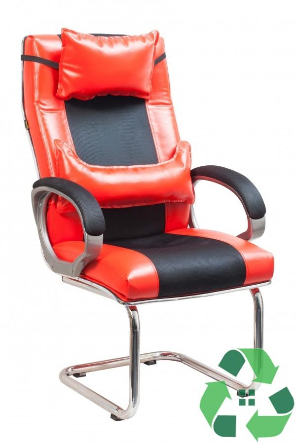 Ghế Chơi Game VIP có gối, Chân quỳ, Có tay EMM3530 (Đỏ)