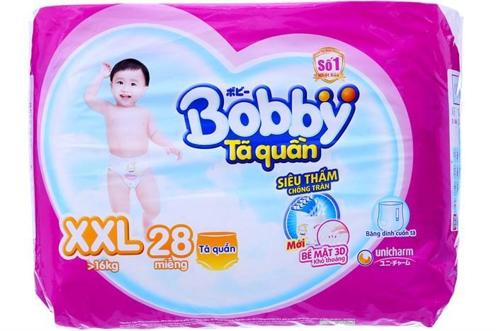 BỈM - TÃ QUẦN BOBBY SIZE XXL - 28 miếng (CHO BÉ >16KG)