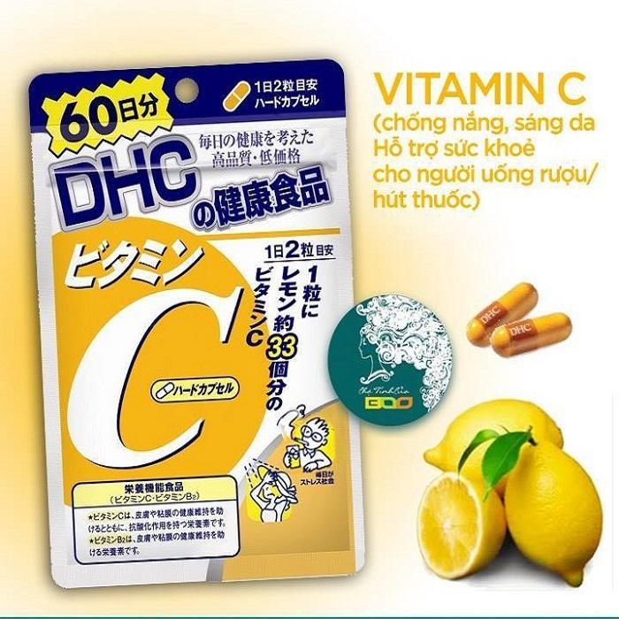 Viên uống bổ sung Vitamin C DHC 120 viên 60 ngày - Nhật Bản