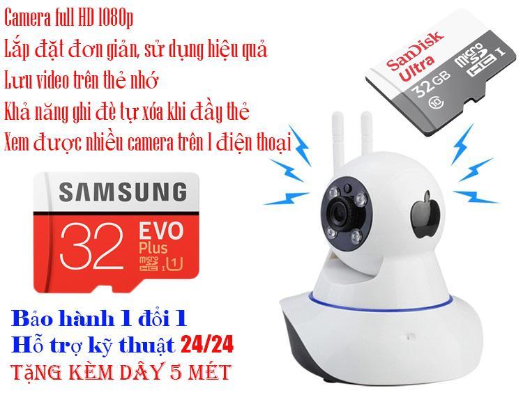 Dau Ghi Hinh, Cam Full Hd 1920X1080 Vision 742, Giá Camera Ip Wifi