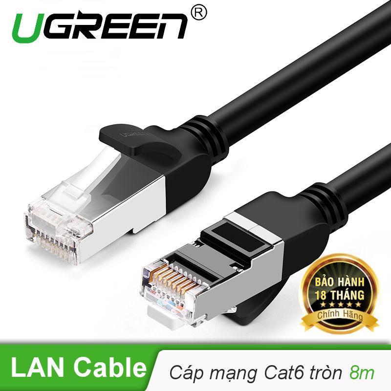 Cáp mạng Cat6 UTP 24AWG đầu bọc kim loại dài 8m UGREEN NW101 - Hãng phân phối chính thức