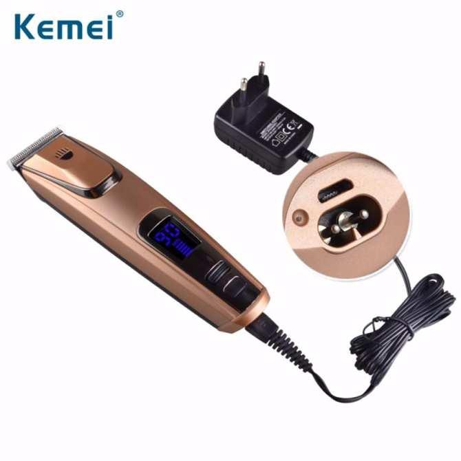 Tông đơ cắt tóc cao cấp- hiển thị phần trăm pin-Kemei PG102