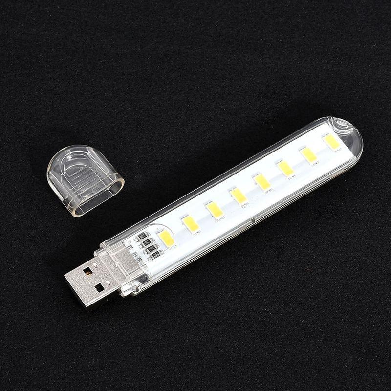 Đèn USB 8 led siêu sáng ( ánh sáng trắng )