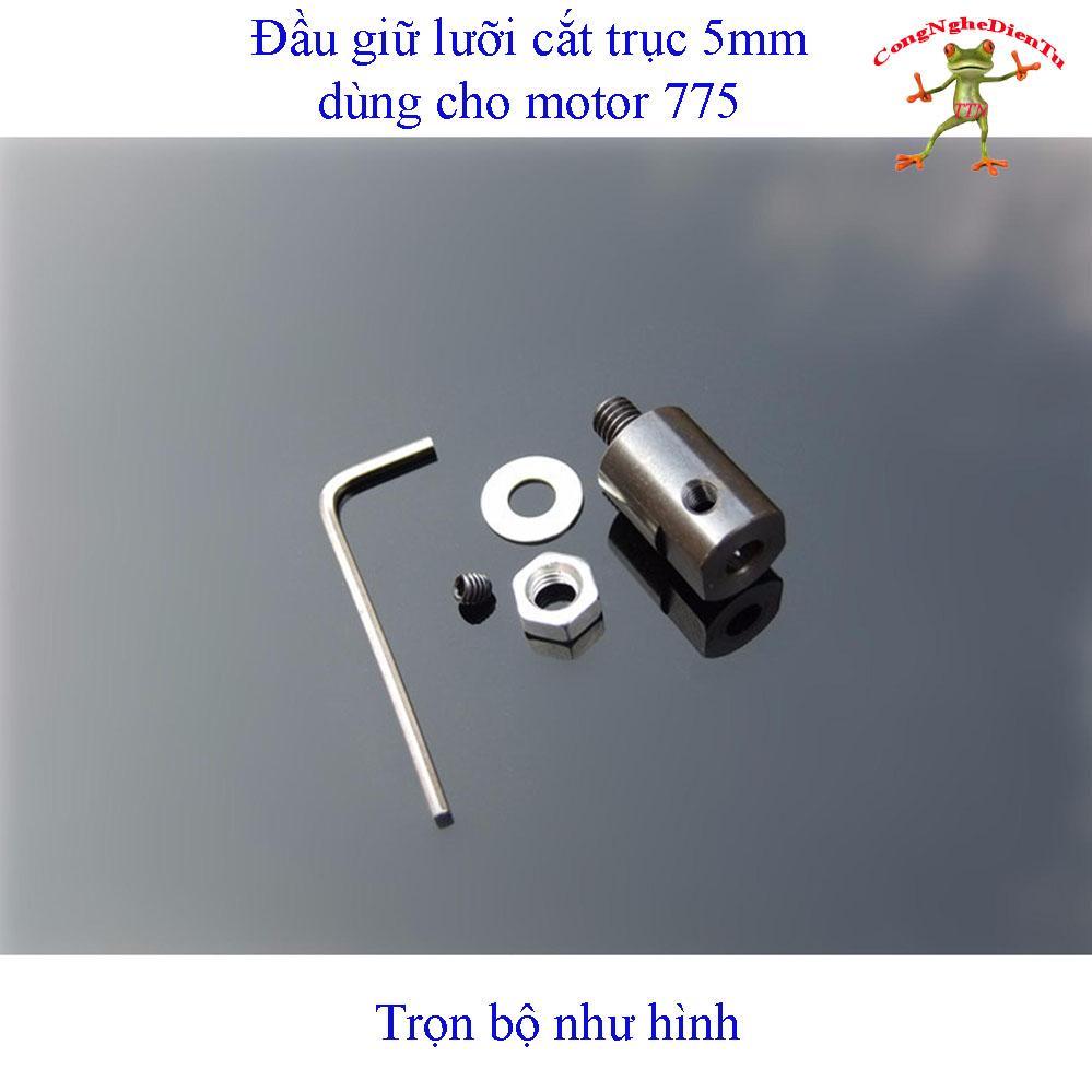 Trục nối giữ lưỡi cắt  trục 5mm dùng cho motor 775