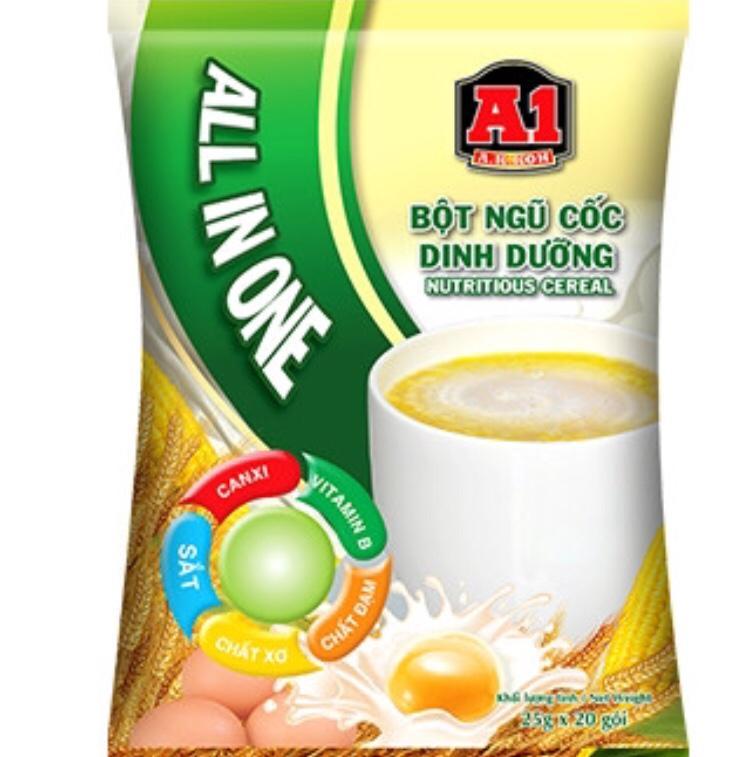 Ngũ cốc dinh dưỡng A1 gói 25g (bịch 20 gói)-PP Sâm Yến Thái An