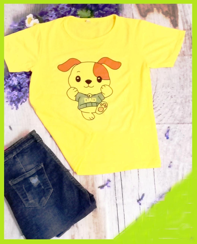 Áo thun gia đình gấu con màu vàng (Dad)