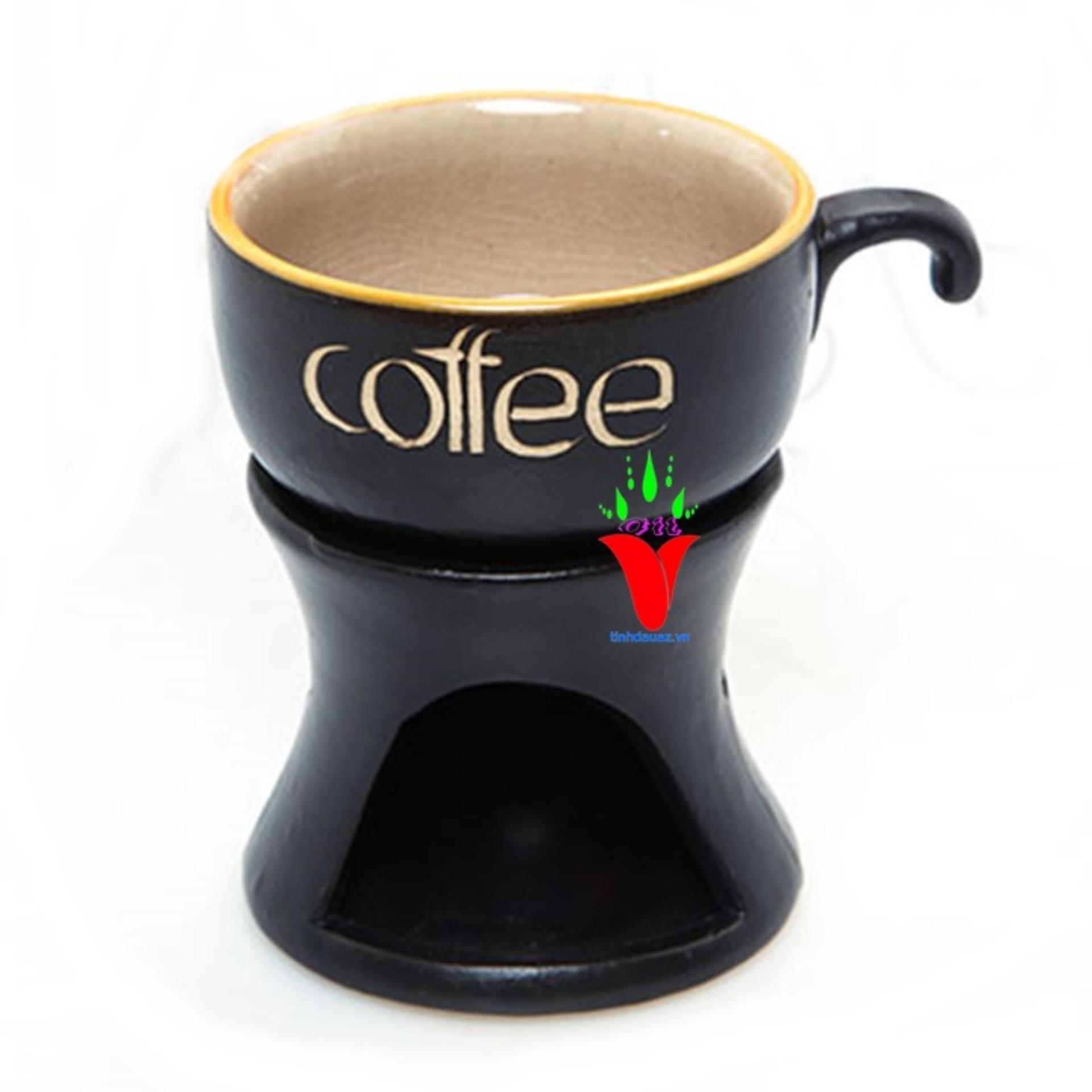 ĐÈN XÔNG TINH DẦU BẰNG NẾN HÌNH LY CAFE