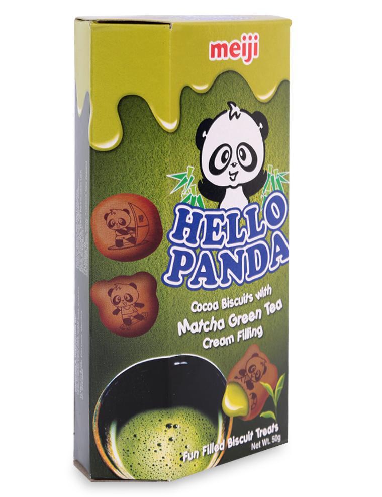Bánh Hello Panda Kem Trà Xanh Meiji Hộp 50G