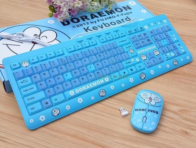 Bàn phím máy tính Doremon có dây- Màu Xanh