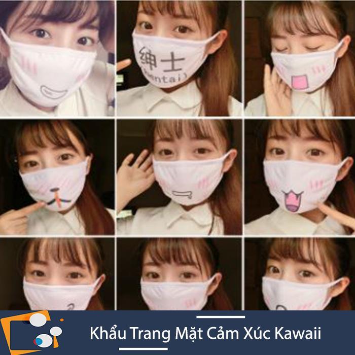 Khẩu Trang Emoticon Anime Mặt Cười Cảm Xúc  Khẩu Trang Kawaii Girl Dễ Thương (Kho HCM)
