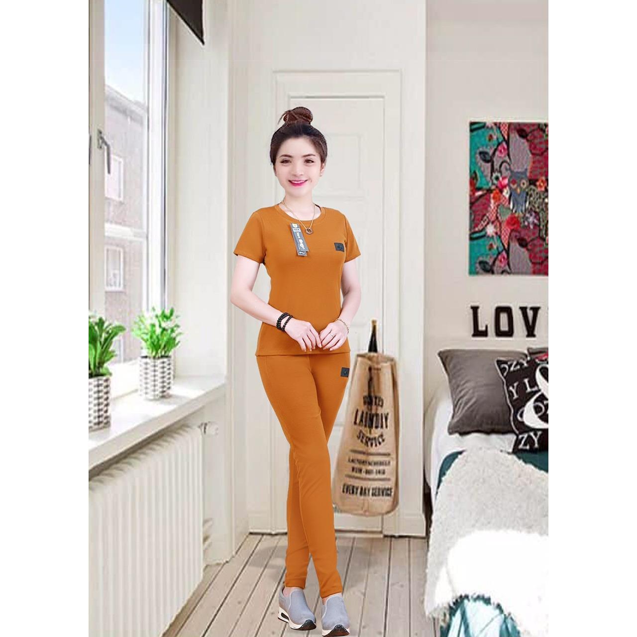 đồ bộ mặc nhà màu cam đất CBS38 - CUBIS SHOP