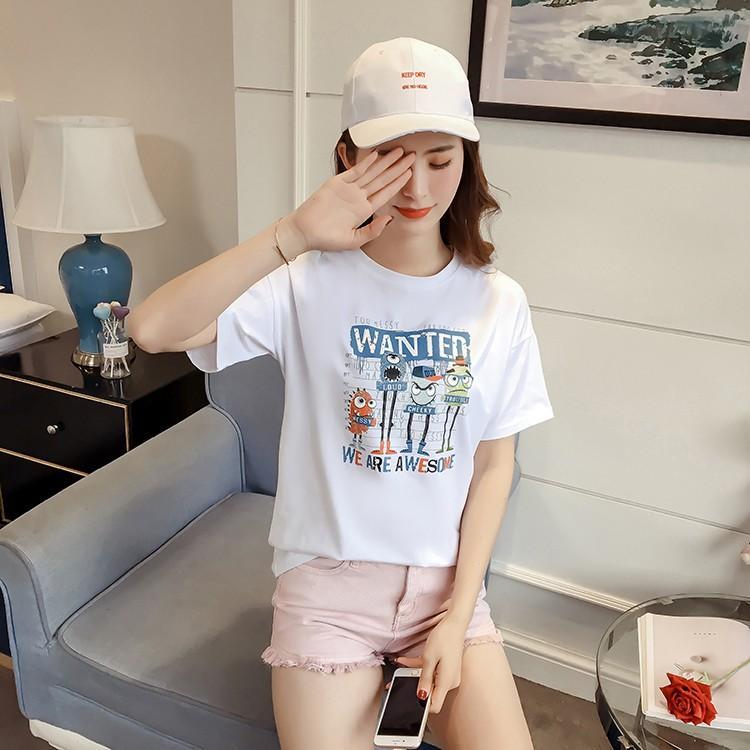 Áo thun nữ Hàn Quốc in hình dấu vân tay dễ thương ATNK1036 AoThun102