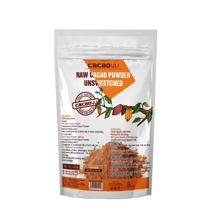 Bột cacao nguyên chất 100% - Hỗ trợ giảm cân - 2201.2- Cacao4U