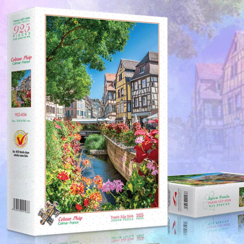 Bộ tranh xếp hình jigsaw puzzle 925 mảnh – Colmar,...