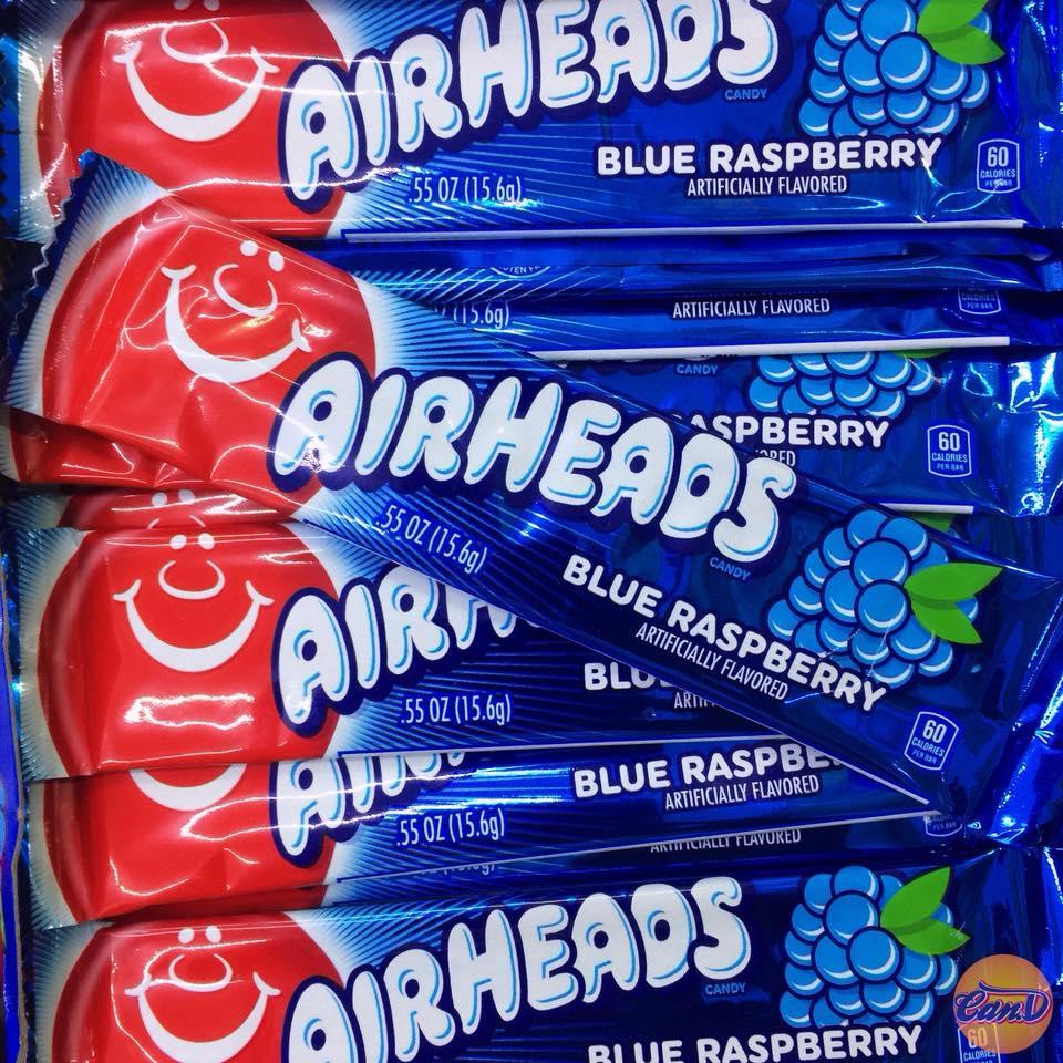 Kẹo Air Heads vị Blue Raspberry