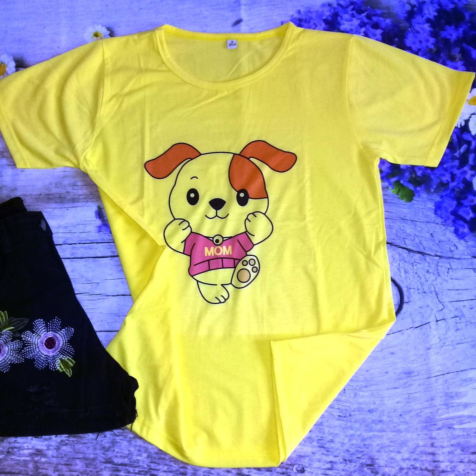 áo thun  gấu màu vàng (Mom)