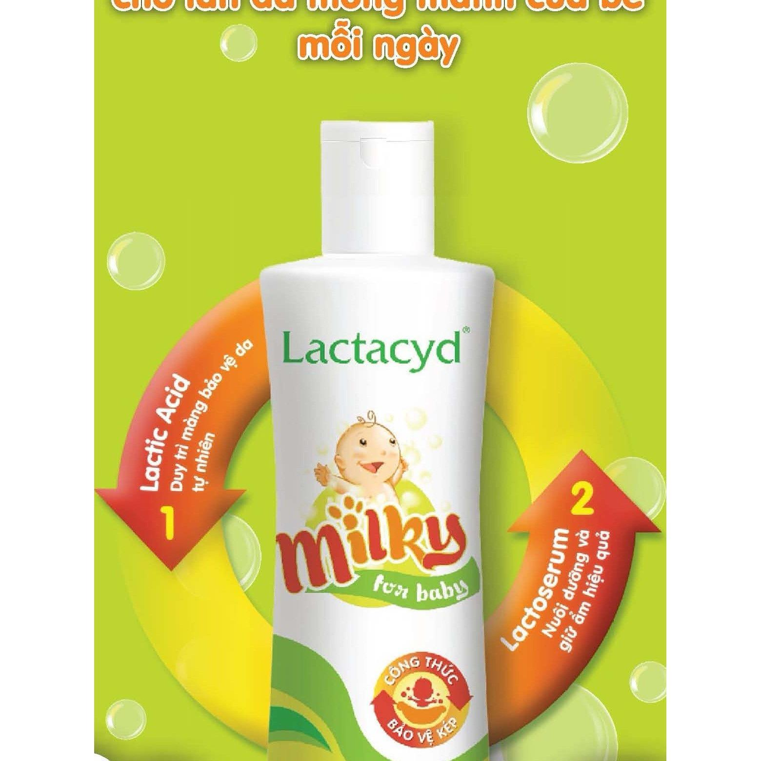 Sữa tắm trẻ em Lactacyd Milky 500ml