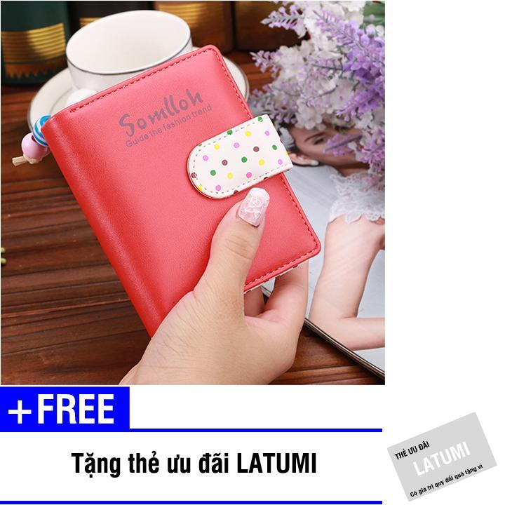 Ví cầm tay nữ da PU thời trang Latumi S2311 + Tặng kèm thẻ ưu đãi Latumi