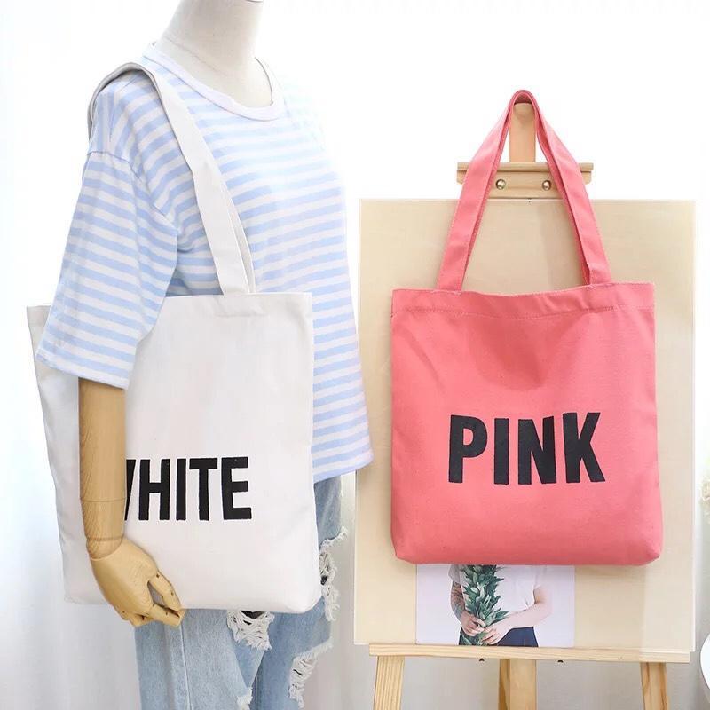 Túi tote canvas đeo vai thời trang Hàn Quốc - The Hills TT03 (Nhiều Màu)