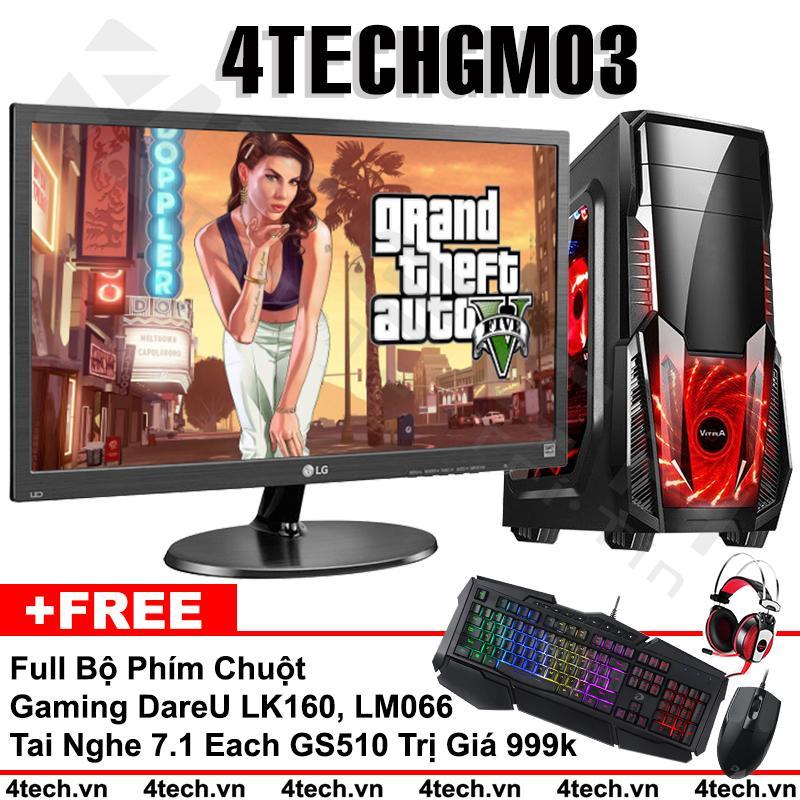 Máy tính chơi Game 4TechGM03 core i5, ram 8GB, hdd 500G, vga GTX750 + màn hình LG 19.5 inch (chuyên GTA, Overwatch) - Tặng phím chuột Gamers DareU & Tai nghe Gaming 7.1 GS510.