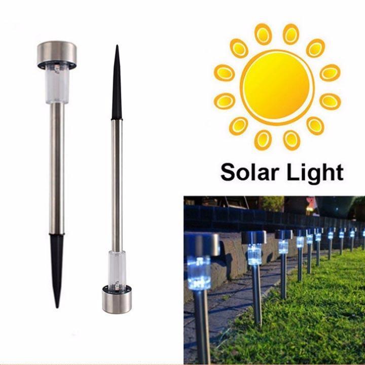 Đèn sân vườn năng lượng mặt trời inox HT1052C