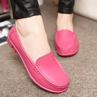 ฤดูใบไม้ผลิและฤดูใบไม้ร่วงรองเท้าสตรีไซส์พิเศษไซส์ใหญ่พิเศษพื้นรองเท้าอ่อนรองเท้าพยาบาลสีขาวแบนรองเท้า Tods ส้นแบนรองเท้ากันลื่นรองเท้าคุณแม่รองเท้าสำหรับคนท้อง-