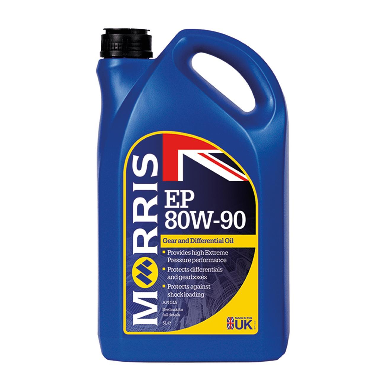 Dầu hộp số sàn/ dầu cầu ô tô Morris EP 80W-90 API GL5 Can 5L