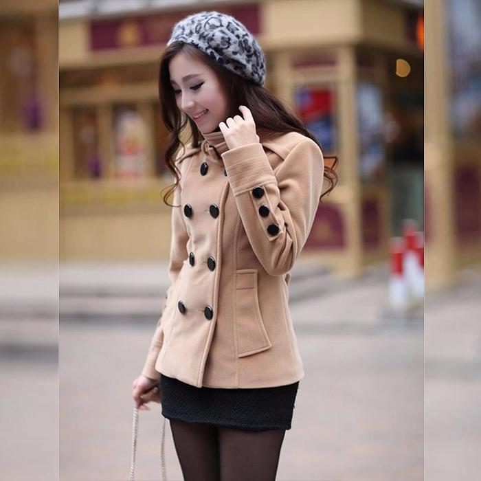 Áo khoác nữ Hàn Quốc 8 nút Kmfashion