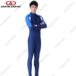 Quần áo lặn biển dài tay NAM - BLUE, cản tia UV 99% (UPF50+), chống nắng cao cấp - DONGDONG thumbnail
