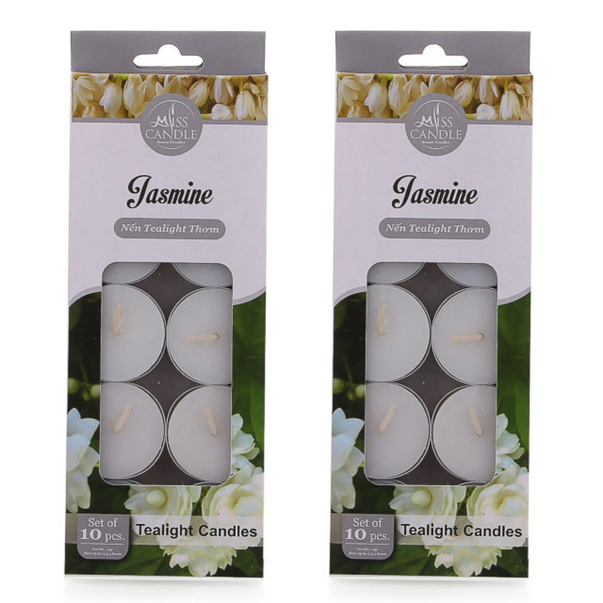 Bộ 20 nến tealight thơm hương hoa nhài Miss Candle FtraMart FTM-NQM0147 (Trắng)