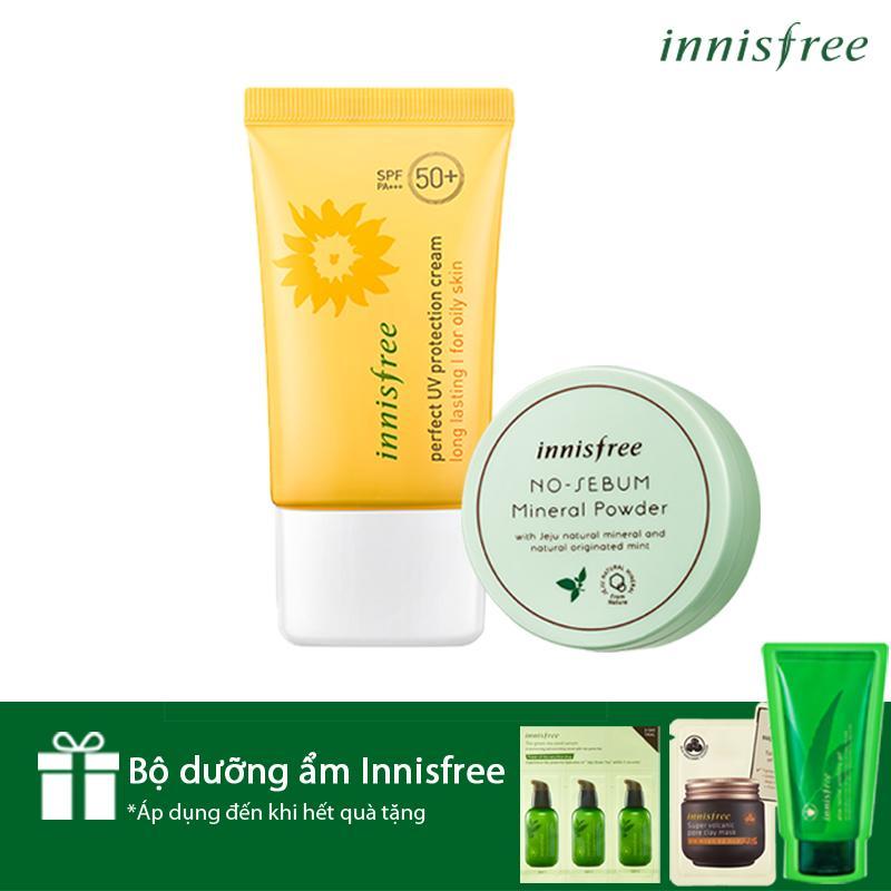 Bộ Đôi Chống Nắng-Kiềm Dầu Hoàn Hảo Innisfree Perfect Uv Protection Cream Long Lasting