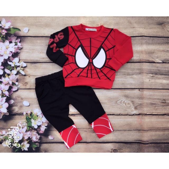 Bộ Đồ Siêu Nhân  Nhện Spider Man Cho Bé Trai A108