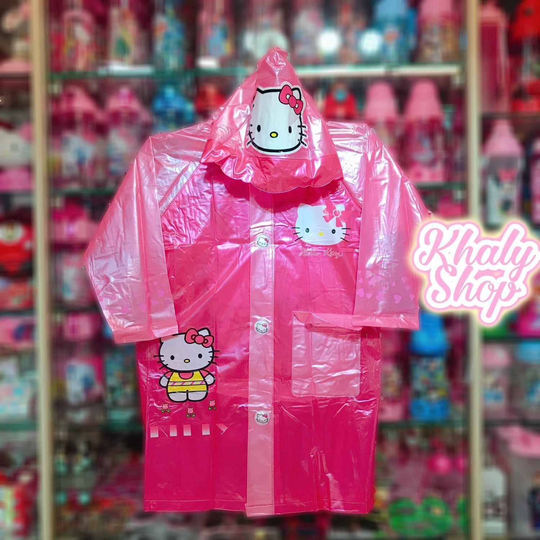 Áo mưa bóng hình mèo Kitty màu hồng dành cho trẻ em có nhiều size (S-M-L-XL-XXL) - 36KT6026138